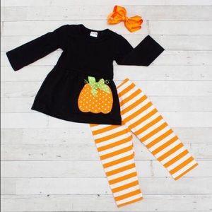 NWT! 2 Piece Whimsical Pumpkin Boutique Set